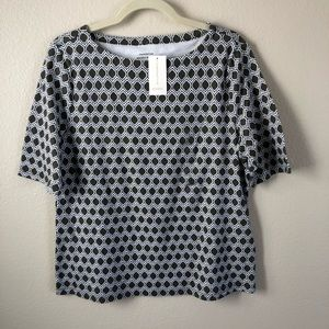 NWT Charter Club Short Sleeve Top Size Large L1